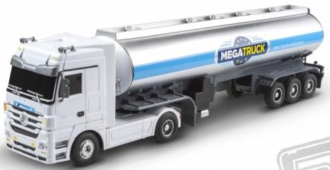 RC kamión Mercedes Benz cisterna, biely