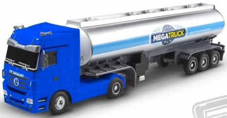 RC kamión Mercedes Benz cisterna, modrý