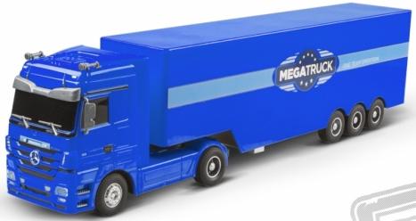 RC kamión Mercedes Benz, modrý
