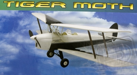 RC lietadlo Tiger Moth