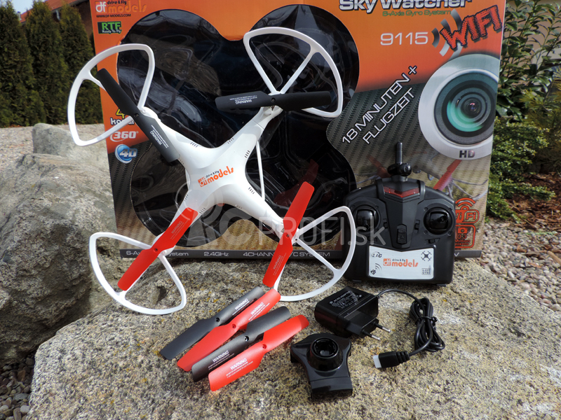 RC dron Sky Watcher 3 - 18min. letu - FPV