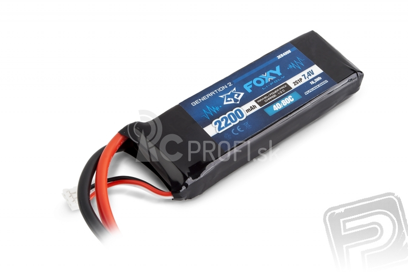 FOXY G2 - LC Li-Pol 2200mAh/7,4V 40/80C 16,3Wh