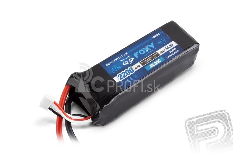 FOXY G2 Li-Pol 2200mAh/14,8V 40/80C 32,6Wh