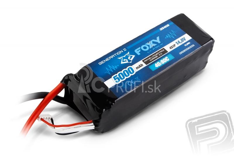 FOXY G2 Li-Pol 5000mAh/14,8V 40/80C 74,0Wh
