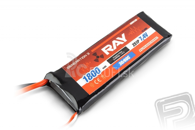 G3 - LC RAY Li-Pol 1800mAh/7,4 30/60C Air pack 13,3Wh