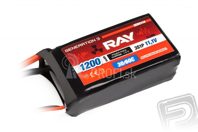 G3 RAY Li-Pol 1200 mAh/11,1 30/60 C Air pack 13,3 Wh