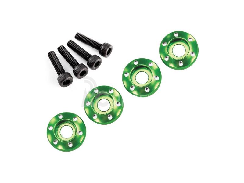 LaTrax - Podložka disku hliník zelený, šroub M3x12mm CS (4)