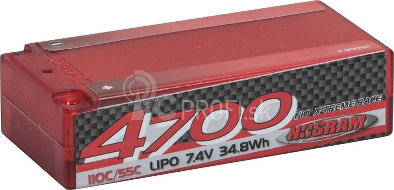 LiPo 1/10 X-treme Race Short SubC Hardcase 4700 - 110C/55C - 7.4V