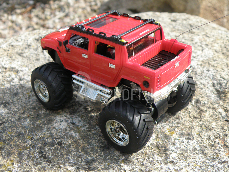 Mini RC Monster Truck, červená