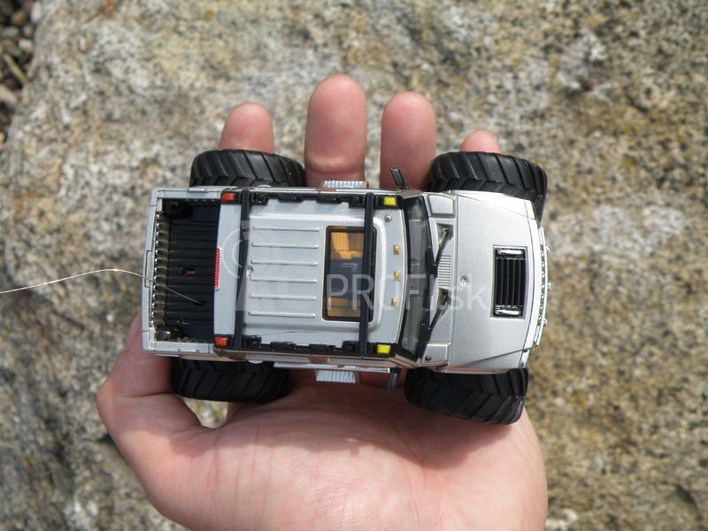 Mini RC Monster Truck, strieborná