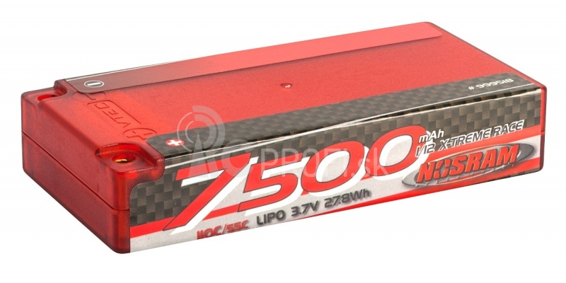 NOSRAM 7500 - 1/12 1S - 110C/55C - 3.7V LiPo - 1/12 Competition Car Line Hardcase