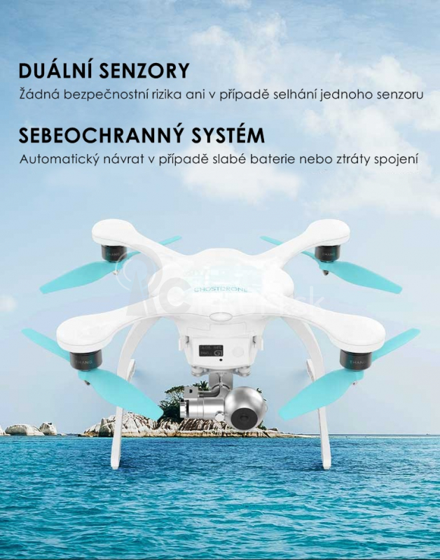 EHANG GHOSTDRONE 2.0 VR, biela (Android) + batoh