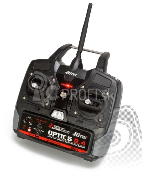 OPTIC 5 2,4GHz mode 2, s MINIMA 6T prijímačom