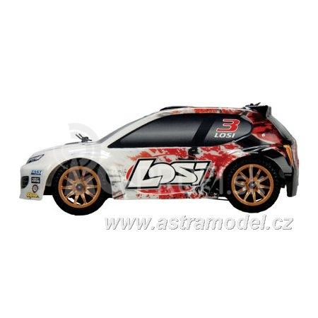 RC auto Losi Micro-Rally Car 1:24, oranžová/biela