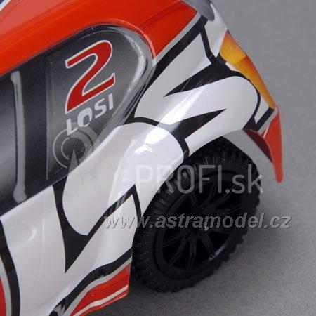 RC auto Losi Micro-Rally Car 1:24, šedý/biely
