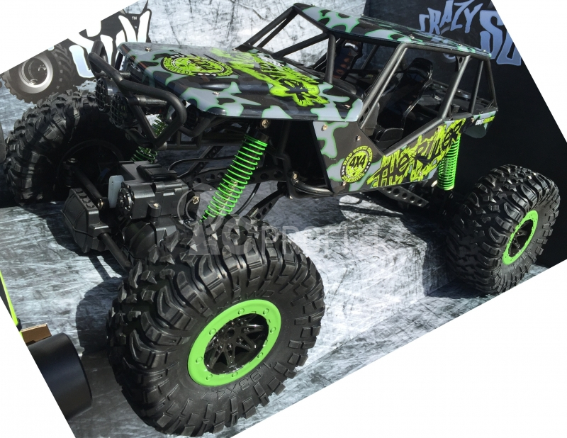 RC auto Rock Crawler 1:10, zelená