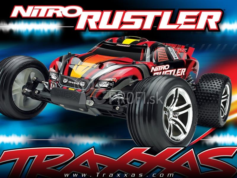 RC auto Traxxas Nitro Rustler 1:10