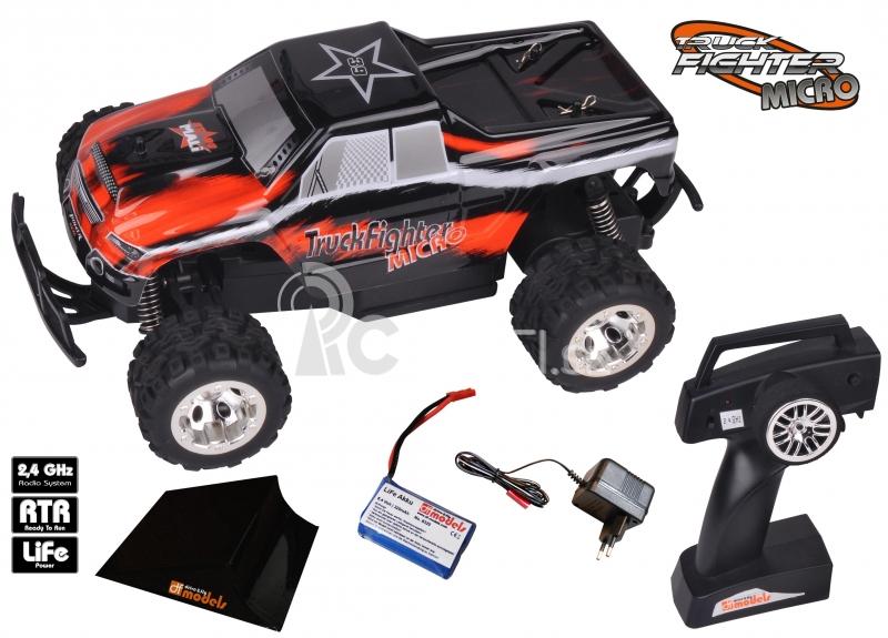 RC auto TruckFighter Micro RTR so skokanským mostíkom