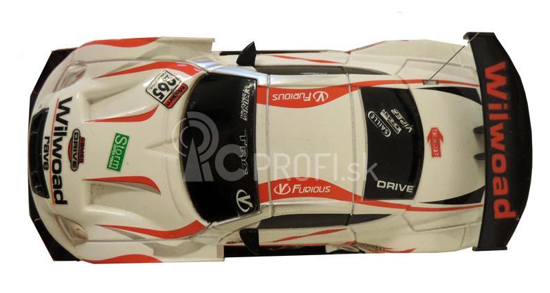RC Car závodný model s kužeľmi 1:43, bielý