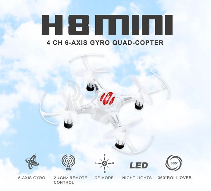 RC dron JJRC H8 mini, biela