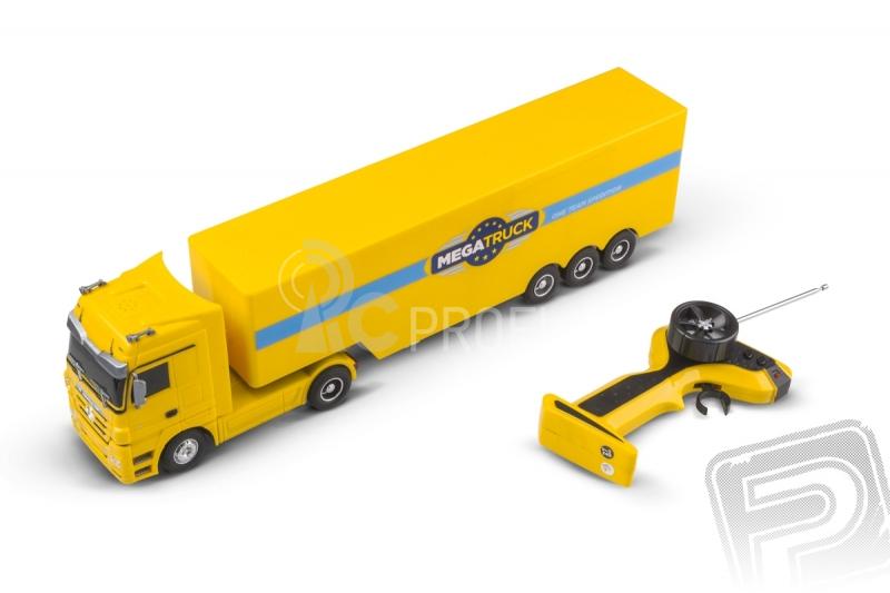 RC kamión Mercedes Benz, žltý