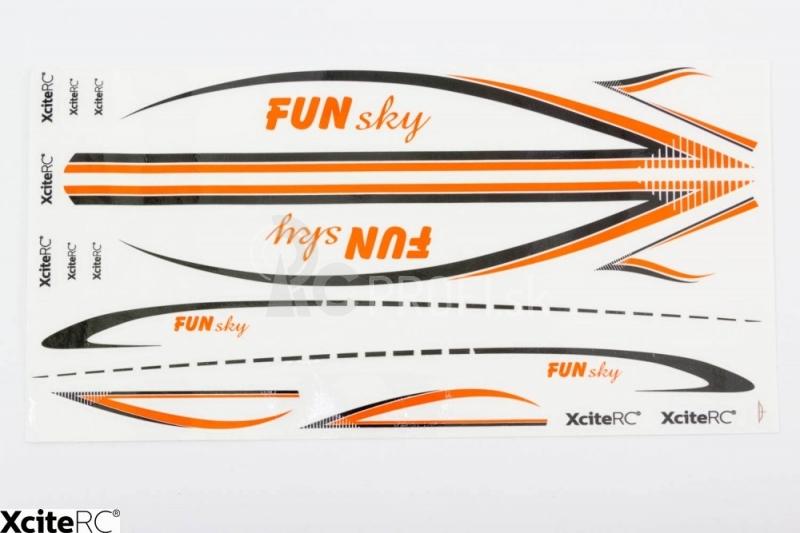 RC lietadlo FunSky, oranžová