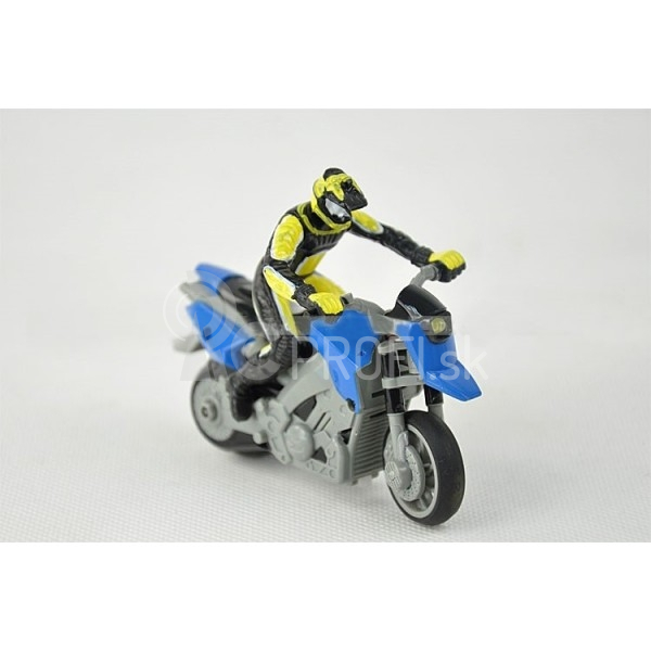 RC mini motorka 1:43, modrá