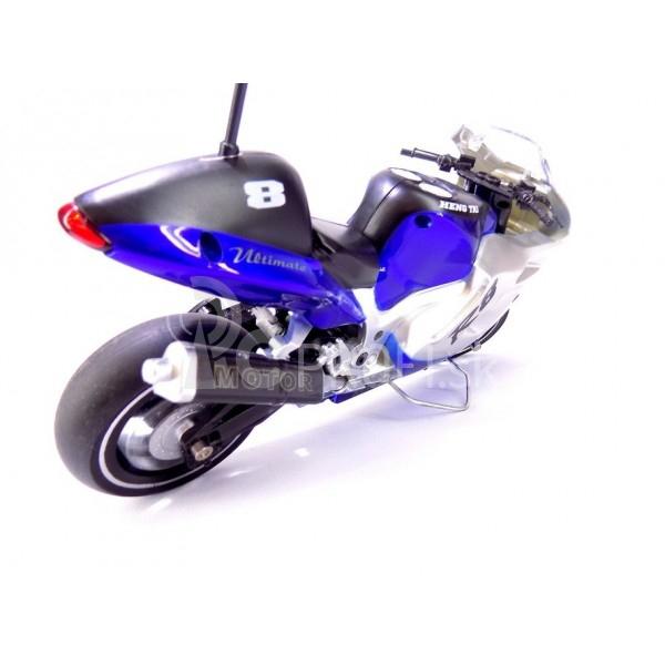 RC motorka 1:8, modrá