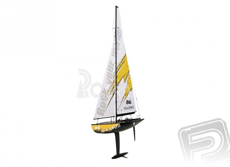 RC plachetnica Naulantia, žltá