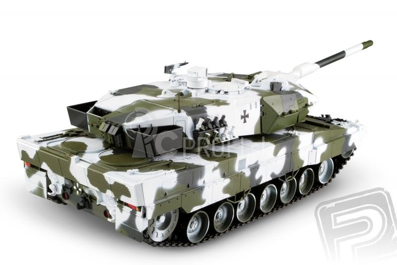 RC tank Leopard 2A6 1:16 - zimná verzia, 2,4GHz