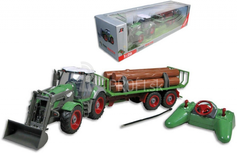 RC traktor s návesom 1:28, 8ch,