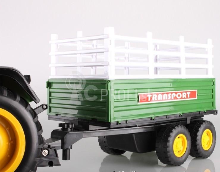 Traktor s vlečkou - ovládaný cez kábel