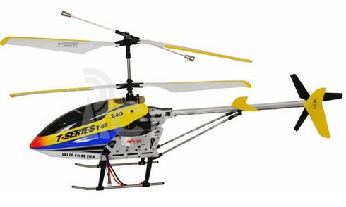 RC vrtuľník MJX T-55, žltá