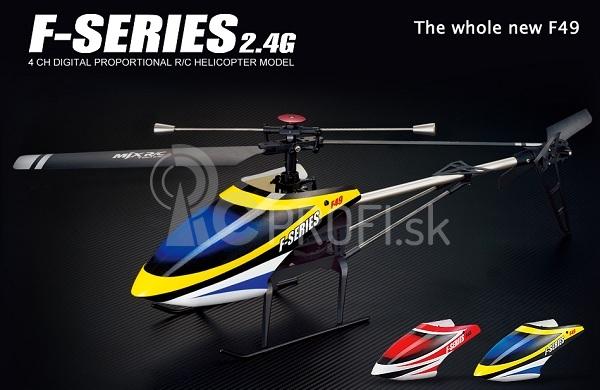 Set MJX F-49, žltá + kamera
