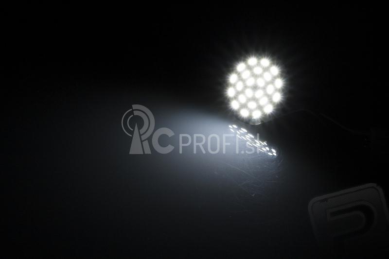Super mikro svietiace bodové svetlo (24 LED) pre kvadrokoptéry, biele