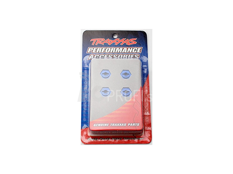 Traxxas - hliníkový náboj kola modrý (4)